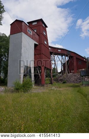 Buildings Of An Old Iron Mine In Varmland, Sweden