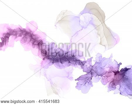 Gorgeous Digitally Created Alcohol Inkscapes With Lovely Marble Colors And Designs For Use As Backgr