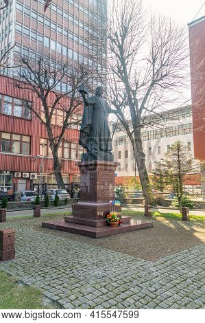 Gdansk, Poland - March 31, 2021: Statue Of Vladimir I Of Kiev.