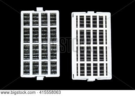 A Couple Of Refrigerator Air Filter Replacement For Kitchen Fridges. Fresh Flow Fridge Refrigerators