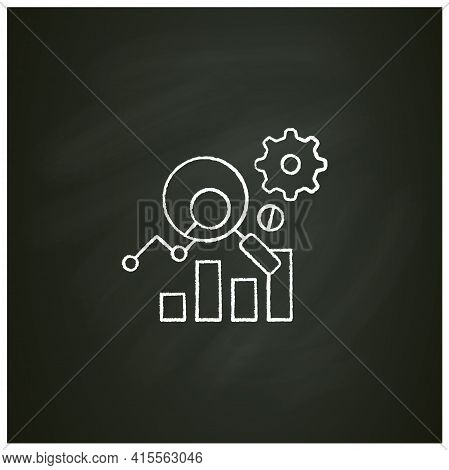Measurement Analytics Chalk Icon. Combines Measurement Science And Validity Theory, Using Digital Bi