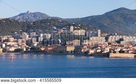 Ajaccio, France - June 30, 2015: Coastal Landscape On A Summer Morning, Corsica Island, France