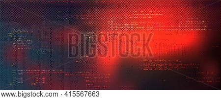 Abstract Technology Binary Code Dark Red Background