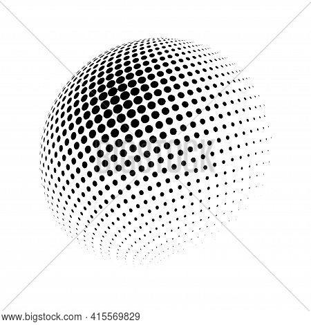 3D Vector Halftone Spheres. Halftone Design Elements. Decoration Element. Vector Illustration.