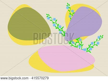 Three Colorful Art Abstract Minimalist Geometric Shape In Trend 2021 Summer Color As Pink Pirouette,