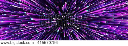 Abstract Circular Speed Background. Centric Motion Of Star Trails. Starburst Dynamic Lines Or Rays.