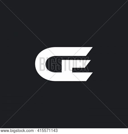 Vector Of Abstract Letter Ce Simple Geometric Logo