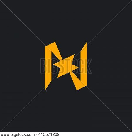Letter N Abstract Explode Geometric Simple Logo Vector