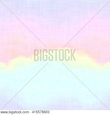 Seamless Pale Pastel Tie Wash Fabric Background. White Faded Bleach Mottled Paint Pattern Texture. S
