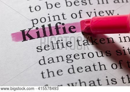 Fake Dictionary Word, Dictionary Definition Of Killfie