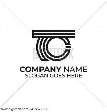 Tc Letter Name Logo Design Inspirations, T And C Monogram Logo Vector Template