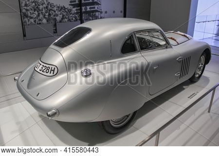 Germany, Munich - April 27, 2011: Bmw 328 Touring Coupe In The Exhibition Hall Of The Bmw Museum. Th