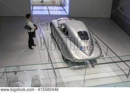Germany, Munich - April 27, 2011: Bmw 328 Mille Miglia In The Exhibition Hall Of The Bmw Museum