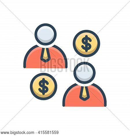 Color Illustration Icon For Business-partnership Business Partnership  Partners  Collaboration  Team
