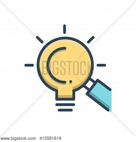 Color Illustration Icon For Looking-for-opportunities Looking For Opportunities Magnifying-glass Inv