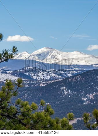 Scenic Mountain View From The Artist Point On The Top Of Flagstaff Mountain In Boulder Mountain Park