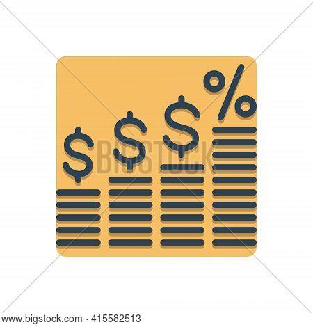 Color Illustration Icon For Finance-interest  Finance Interest Improvement Investment