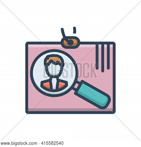 Color Illustration Icon For Recruitment Enlistment  Hiring Human