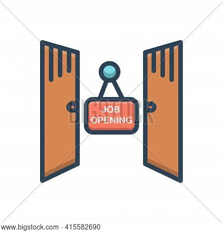 Color Illustration Icon For Job-opening Job Opening Opportunity Curiosity