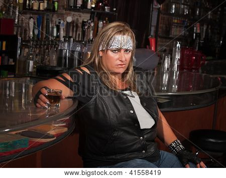 Angry Woman With Drink