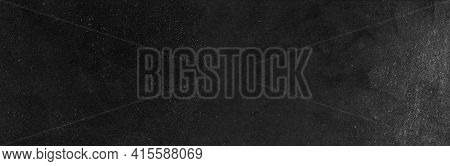 Blank Wide Screen Real Chalkboard Background Texture In College Concept For Back To School Classroom
