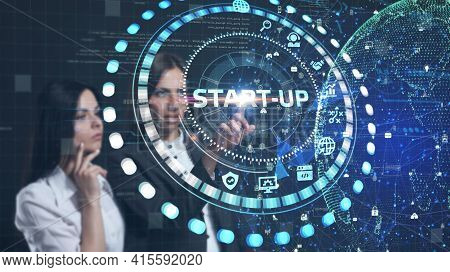 Business, Technology, Internet And Network Concept.  Start-up Funding Crowdfunding Investment Ventur