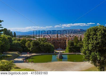 Giardino di Boboli in Florence Italy - travel background