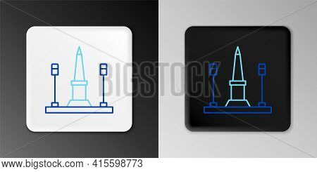 Line Place De La Concorde In Paris, France Icon Isolated On Grey Background. Colorful Outline Concep