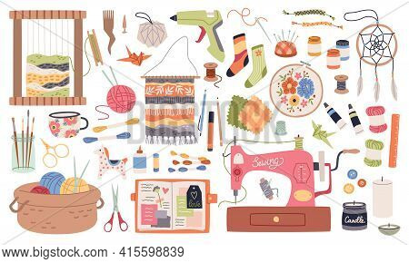Handmade Crafts. Creative Accessories, Consumables And Tools, Hobbies Workshop Items. Sewing Machine