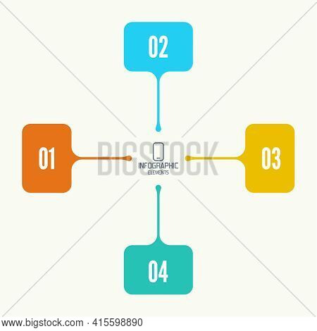 Comparative Chart With Banner For Presentation, Informative Forms. Infographic Option. Info Chart Pr
