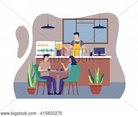 Restaurant Or Coffee Shop Concept