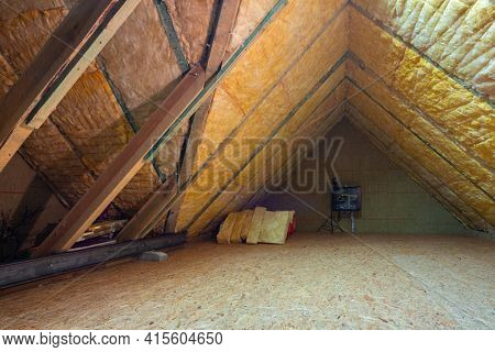 Thermal insulation of the attic in the house