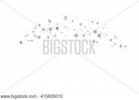 Light Silver Glitter Confetti Background. White Holiday Texture. White Abstract Texture. Silver Glit