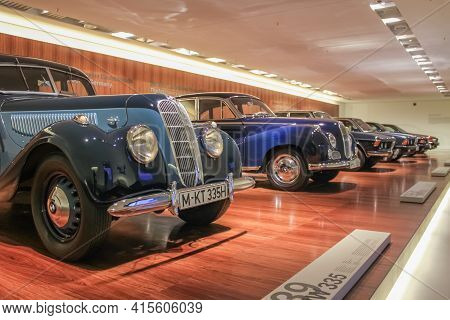 Germany, Munich - April 27, 2011: Bmw 335 Sports Sedan From 1939 In The Exhibition Hall Of The Bmw M