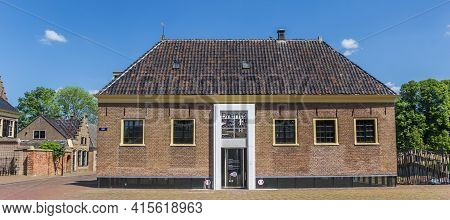 Assen, Netherlands - May 30, 2020: Panorama Of The Drents Museum In The Center Of Assen, Netherlands
