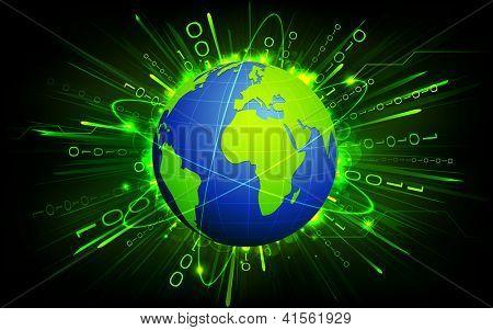 Earth on Binary Background