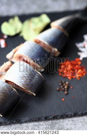 Spicy Salted Herring. Norwegian Herring. Saltwater Fish Omega 3.
