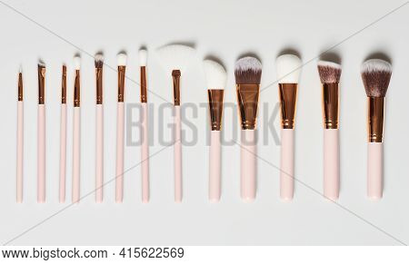 Set Of Cosmetic Brushes Different Size