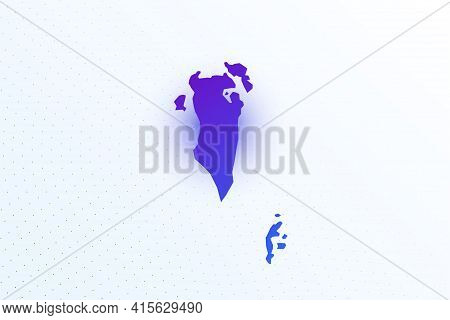 Map Icon Of Bahrain. Colorful Gradient Map On Light Background. Modern Digital Graphic Design. Light