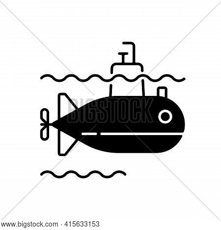Submarine Black Linear Icon. Watercraft Capable Of Independent Operation Underwater. Special Underwa