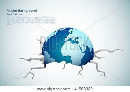 Abbildung der Erde kommen aus gebrochenen Boden