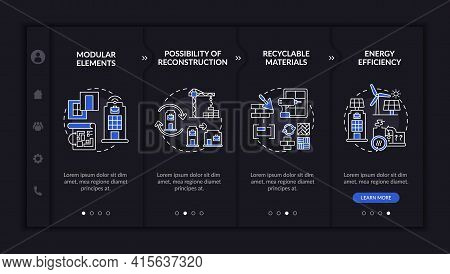 Futuristic Worksite Building Onboarding Vector Template. Responsive Mobile Website With Icons. Web P
