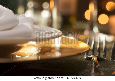 Configuração de jantar elegante