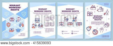 Migrant Workers Rights Brochure Template. Immigrant Family Support. Flyer, Booklet, Leaflet Print, C