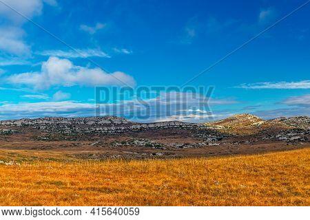 Chatyr-dag Plateau Landscape In Crimea On An Autumn Day