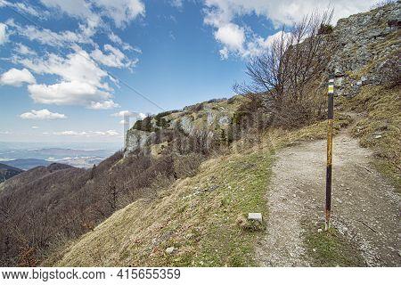 Spring Time In Klak Hill, Little Fatra Mountains, Slovak Republic. Seasonal Natural Scene.