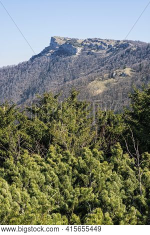 Klak Hill Is The Symbol Of The Rajecka Valley, Slovak Republic. Hiking Theme. Travel Destination.
