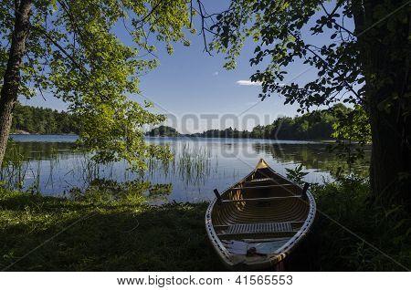 Morning Light On A Canoe