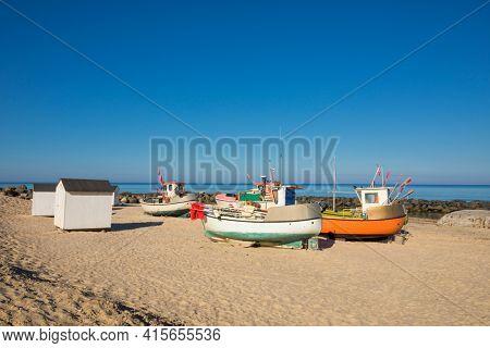 The small fishing harbor at Lønstrup, Jutland, Denmark