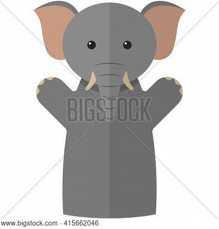 Vector Elephant Hand Puppet Doll For Theatre Show
